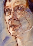 © 'Portret' 2006 watercolour and conte on paper Peteris Ciemitis