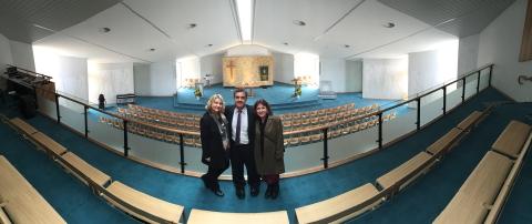 Jill Chris Debbie.Rush Chapel consecration.001