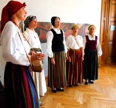 Lativian Choral choir at opening Talsi exhibiion