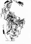 © 'Seddon' 2016 ink on paper Peteris Ciemtiis